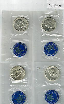 1971-72-73-74 40% Silver Uncirculated Eisenhower Dollars