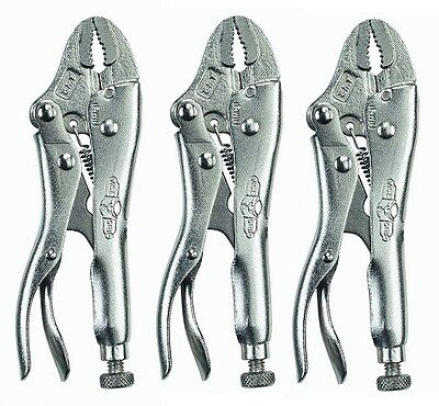 "Irwin Vise-Grip 4WR (1002L3) The Original 4"" Curved Jaw Locking Pliers (3 Pack)"