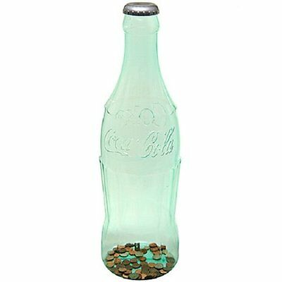 Large Bottle Bank Removable Silve Cap with Coin Slot 24 Inches Tall Plastic