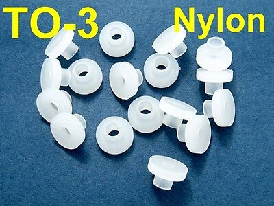 50, TO-3 Nylon Bushings Insulator Washers Plastic M3 for Transistor Heat Sink