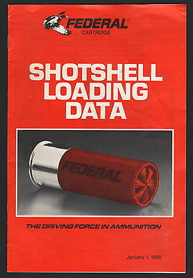 Federal Shotshell Reloading Data - 1986