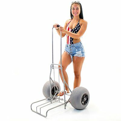 Challenger Mobility Folding Beach Cart Large Balloon Tires Challenger J2020 Sand