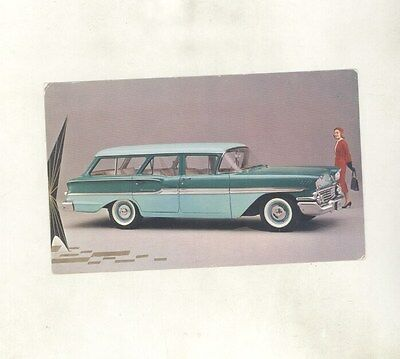 1958 Chevrolet Brookwood 4 Door Station Wagon ORIGINAL Factory Postcard ft2167