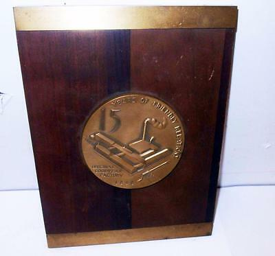Vintage Goodyear Tires Presentation Plaque With 15 Year Of Friendly Relations