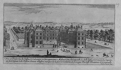 1660  Chateau de Coulommiers Brie engraving Israel Silvestre Radierung gravure
