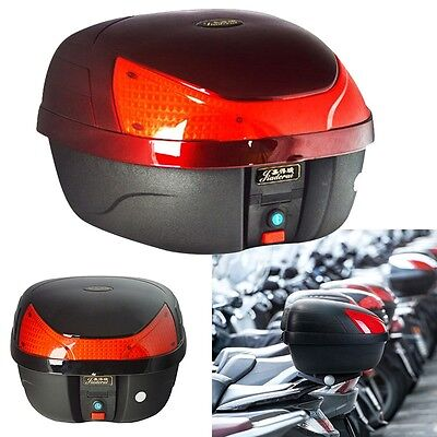 Pop Motorcycle Trunk Motorbike Detachable Tail Box Scooter Lock Storage Top Case