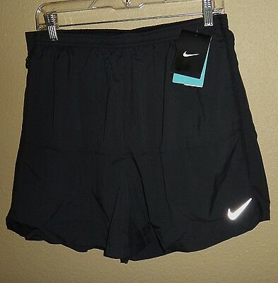 "Nwt Mens Xxl Nike Dri-Fit 5"" Distance Running Run Athletic Shorts Black Gym $50"