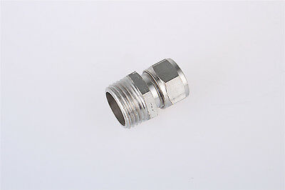 3/8BSP Male Thread Straight Pneumatic Fittings 14mm Tube Dia Quick Coupler
