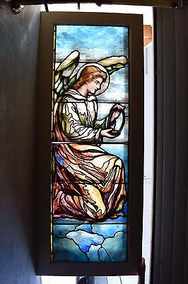 "+ 100 Year Old ""Angel"" Stained Glass Window by Lamb Studios + Tiffany style (#1)"
