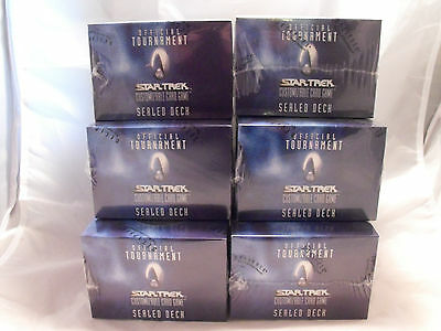 Star Trek Ccg Official Tournament Sealed Deck Lot Of 6