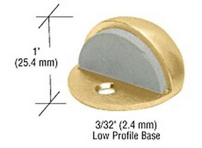 """Polished Brass Zinc Diecast Floor Mounted Low Profile 3/32"""" Base Dome Stop"""