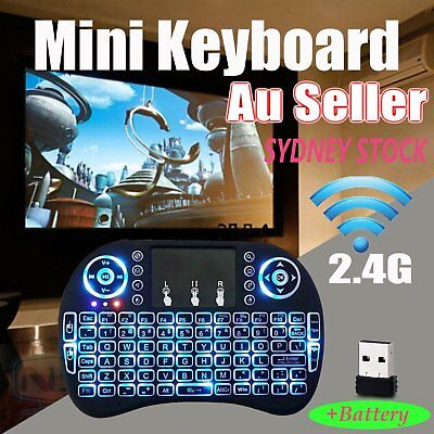 Rii mini i8 2.4GHz Wireless Keyboard with Touchpad for smart TV PC android SNHU