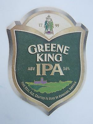 Beer Pub Coaster: GREENE KING IPA Fine Ale ~ Crafted In Bury St Edmunds, ENGLAND