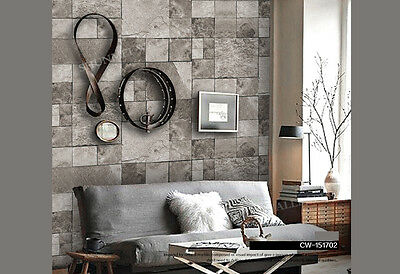 Modern Rustic 3D Lime Stone look wallpaper Industrial Shop fitting wall paper