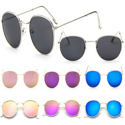 Newly Oversized Fashion Men Women's Round Sunglasses Cute Retro Mirror Glasses