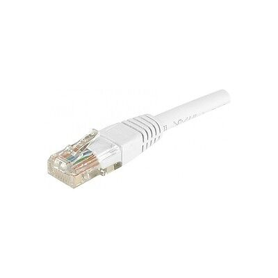 Générique Cordon patch RJ45 U/UTP CAT6 Blanc - 0,15 m