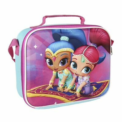 Shimmer & Shine Children Kids 3D Effect Insulated Blue Lunch Bag