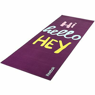 Reebok Hello Hi 4mm Workout Double Sided Fitness Yoga Pilates Mat