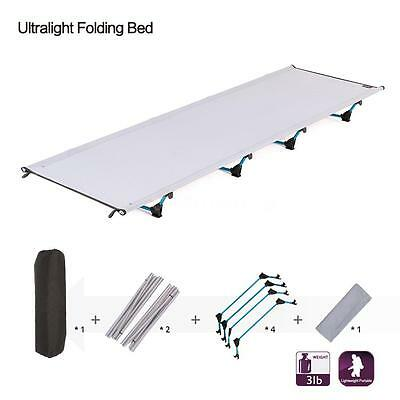 New Outdoor Ultralight Folding Camping Cot Bed for Hiking Travel Fishing US J7I8