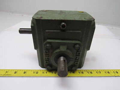 Ohio Gear 175-A Right Angle Double Shaft Speed Reducer Gear Box 5:1 Ratio