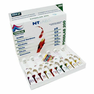 NT Labs PondLab Multi Test Kit Water Testing NTLabs - pH GH KH NO2 NO3 NO4