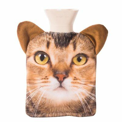 NEW Ginger Tabby Cat Hot Water Bottle Pet Hotty With Removable Cover and Plush E
