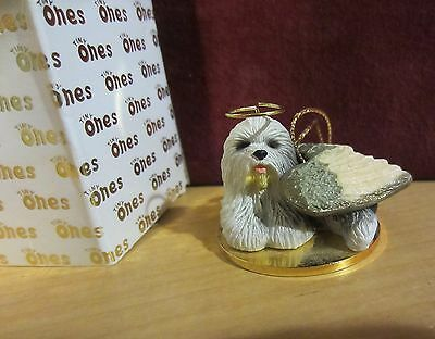 OLD ENGLISH SHEEP DOG ANGEL - Tiny One Ornament  - new in box