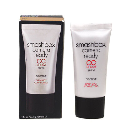 SmashBox Camera Ready CC Cream SPF 30 Dark Spot Correcting Light Damaged Box