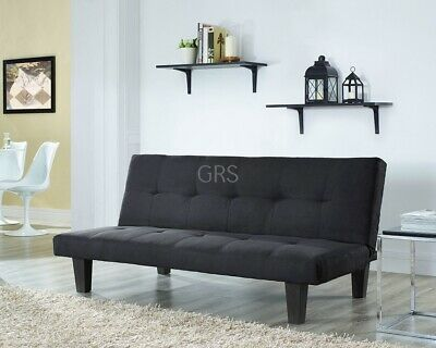 Fabric 3 Seater Sofa Bed Black Taupe Grey Red Faux Suede Fabric Designer Sofabed