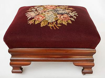 Antique 1830`s American Empire Mahogany Ogee Foot Stool Large Size