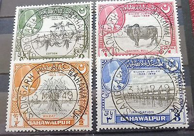 £££ Pakistan - bahawalpur State - stamps timbres with First Day 1949
