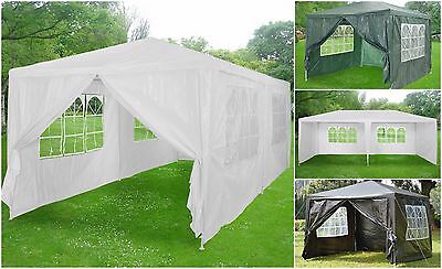 Waterproof PE Gazebo Garden Outdoor Marquee Canopy Party Tent 3x3/3x4/3x6m/2x2m