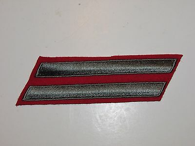 b9612-2 Korean War USMC Long Service Stripes Green on Red L&R Pair 8 Years R6T