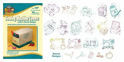 Dakota Collectibles Embroidery Club Sewing Machine Covers Design CD ~NEW SEALED!