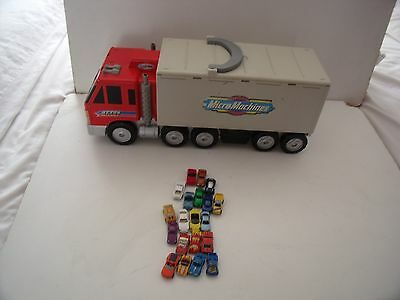 Micromachines Otto's Truck Play City Set Van  20 Cars - Some Die Cast