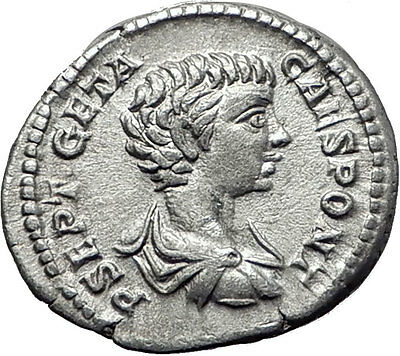 GETA 199AD Rome Silver Authentic Ancient Roman Coin Nobilitas Palladium  i61488