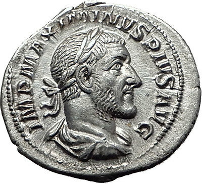 MAXIMINUS I THRAX 235AD Rome Silver Authentic Ancient Roman Coin PAX  i61490