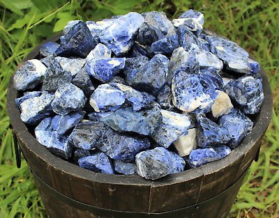 1/4 lb Bulk Lot Natural Rough Sodalite, Raw Gemstone Specimen Reiki Healing 4 oz