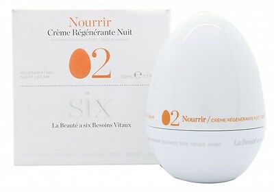 Six Cosmetics Nourish 02 Regenerating Night Cream - Women's For Her. New