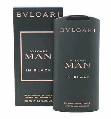 Bvlgari Man In Black Shampoo And Shower Gel - Men's For Him. New. Free Shipping