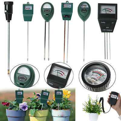 Soil Moisture Fertility Meter pH Level Light Tester for Plants Crops Flowers Veg