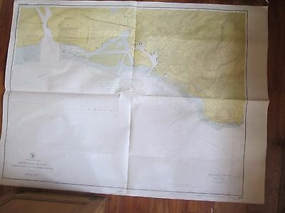 "Vintage HAWAII South Coast Oahu Map. 1950 Pearl Harbor USC & GS. 48"" x 36"""