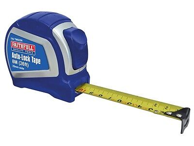 "FAITHFULL KS8 AUTO-LOCK BLADE TAPE MEASURE - 8m (26ft) x 25mm (1"") WIDE"