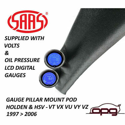 Saas Pillar Pod / Gauge Package Holden Hsv Vt Vx Vu Vy Vz Volts & Oil Pressure
