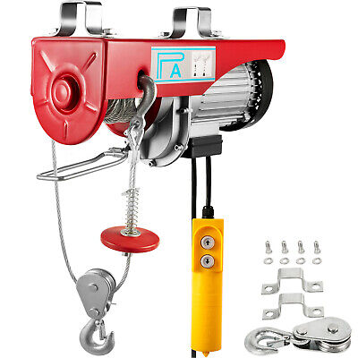 Electric Lifting Winch Hoist 800kg Scaffold Mounted for Workshop Garage New 230V