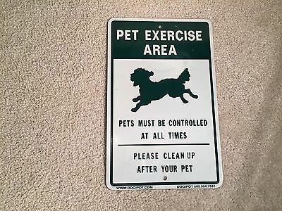 Dogipot 1204 Pet Exercise Area Aluminum Sign