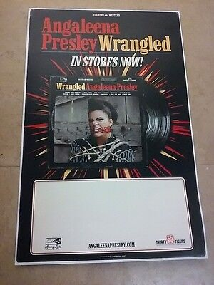 POSTER by ANGALEENA PRESLEY wrangled for the tour new album cd live promo