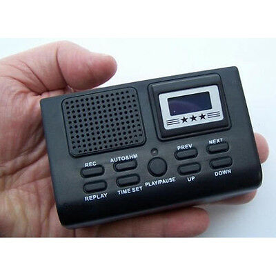 Digital Telephone Call Recorder LCD Display w/ SD Card Slot Phone Voice Recorder