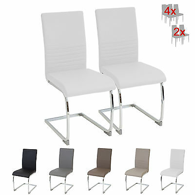 esszimmerst hle burano 2er set weiss freischwinger schwingstuhl stuhl leder eur 69 00. Black Bedroom Furniture Sets. Home Design Ideas
