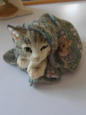 Country Artists Cat Kitten With Mouse Figurine 01446